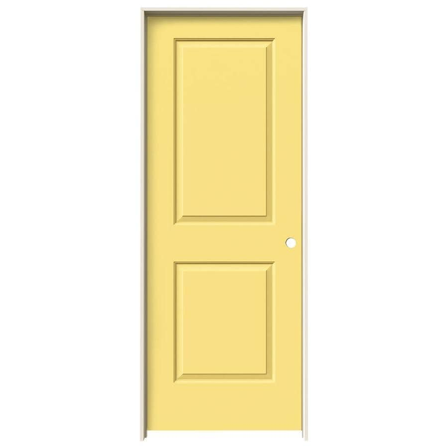 JELD-WEN Cambridge Marigold Prehung Hollow Core 2-Panel Square Interior Door (Common: 28-in x 80-in; Actual: 29.562-in x 81.688-in)