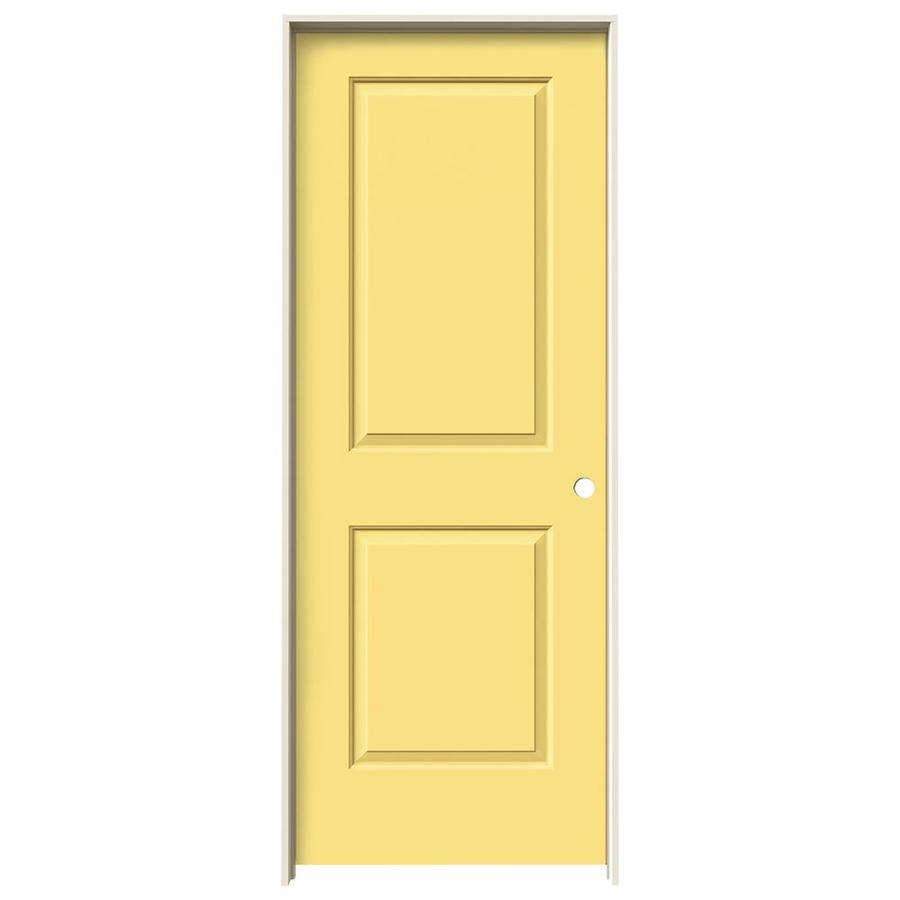 JELD-WEN Cambridge Marigold Prehung Hollow Core 2-Panel Square Interior Door (Common: 32-in x 80-in; Actual: 33.562-in x 81.688-in)