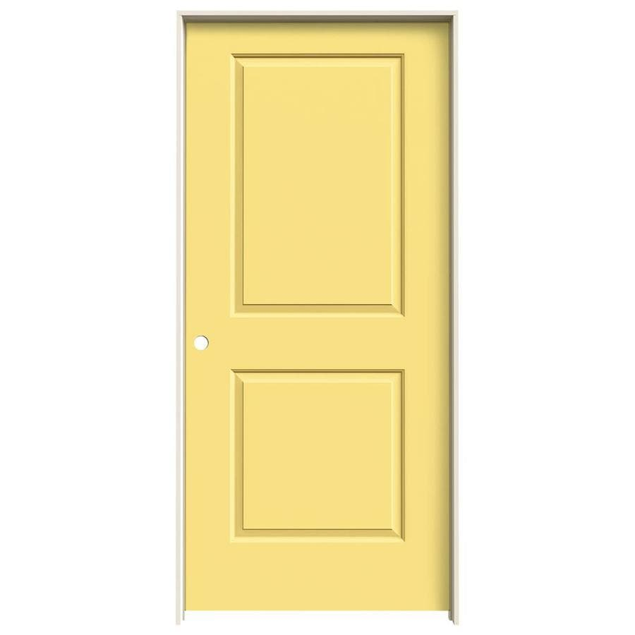 JELD-WEN Cambridge Marigold Prehung Hollow Core 2-Panel Square Interior Door (Common: 36-in x 80-in; Actual: 37.562-in x 81.688-in)
