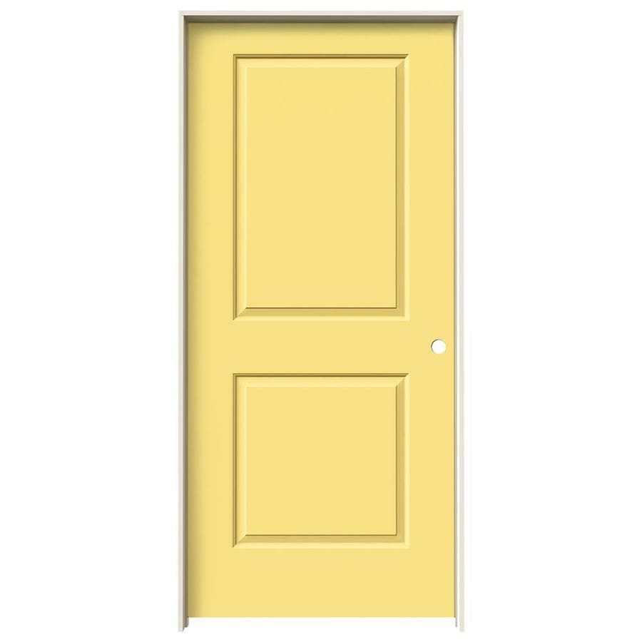 JELD-WEN Cambridge Marigold Prehung Hollow Core 2-Panel Square Interior Door (Common: 36-in x 80-in; Actual: 37.562-in x 81.688-in)
