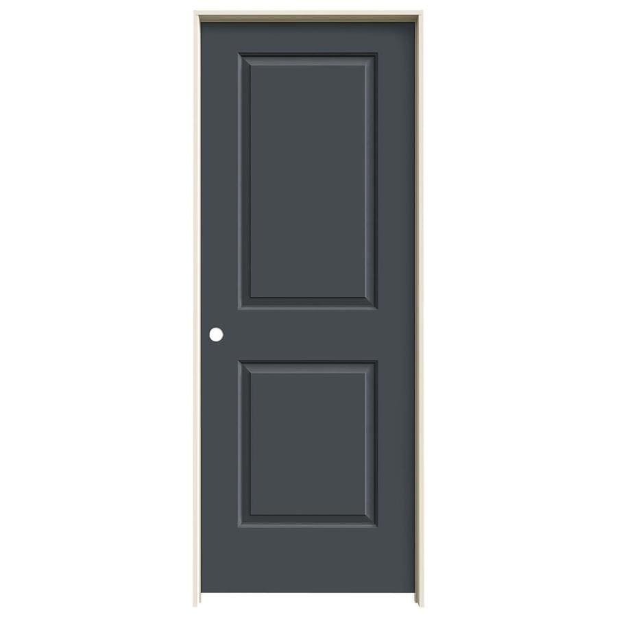 Shop Jeld Wen Cambridge Slate 2 Panel Square Single Prehung Interior Door Common 24 In X 80 In