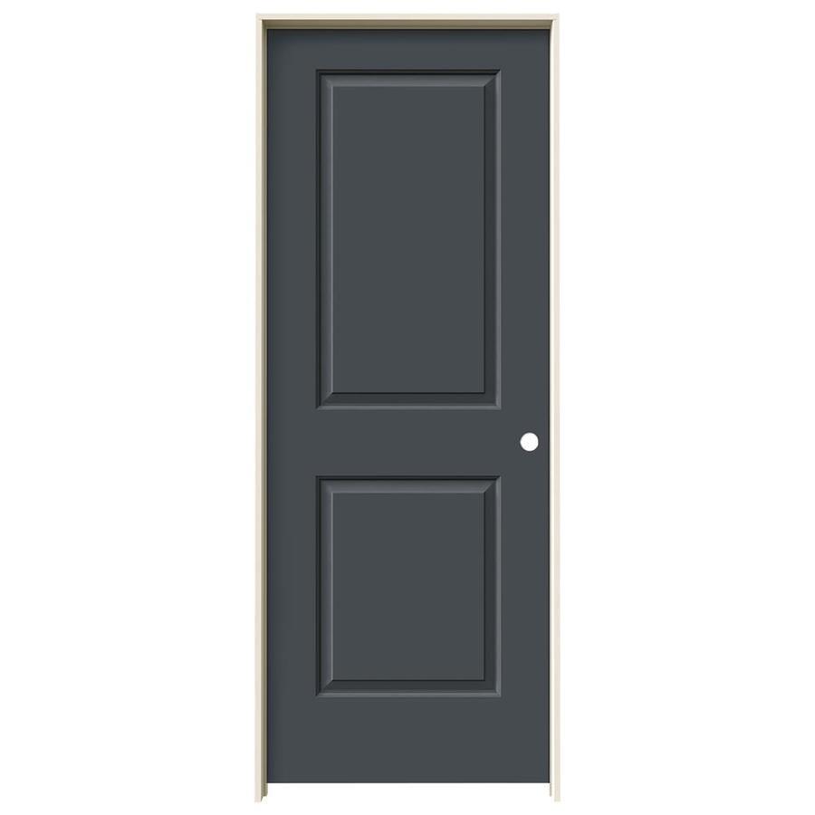 JELD-WEN Slate 2-panel Square Single Prehung Interior Door (Common: 30-in x 80-in; Actual: 31.562-in x 81.688-in)
