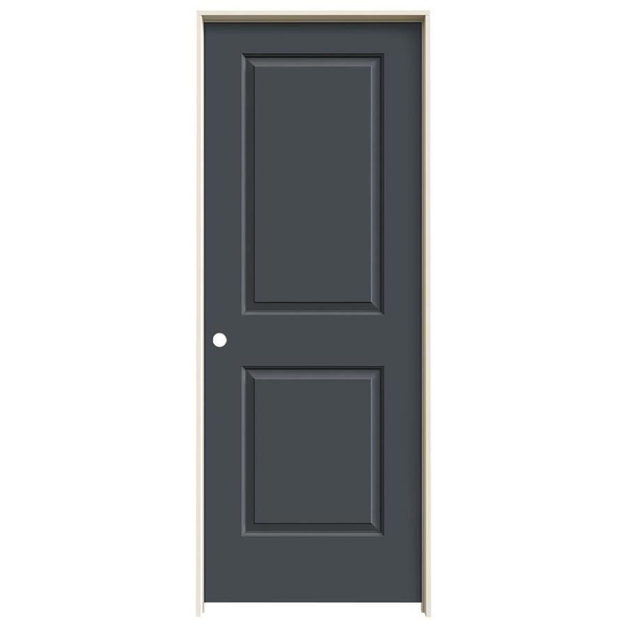 JELD-WEN Slate Prehung Hollow Core 2-Panel Square Interior Door (Common: 32-in x 80-in; Actual: 33.562-in x 81.688-in)
