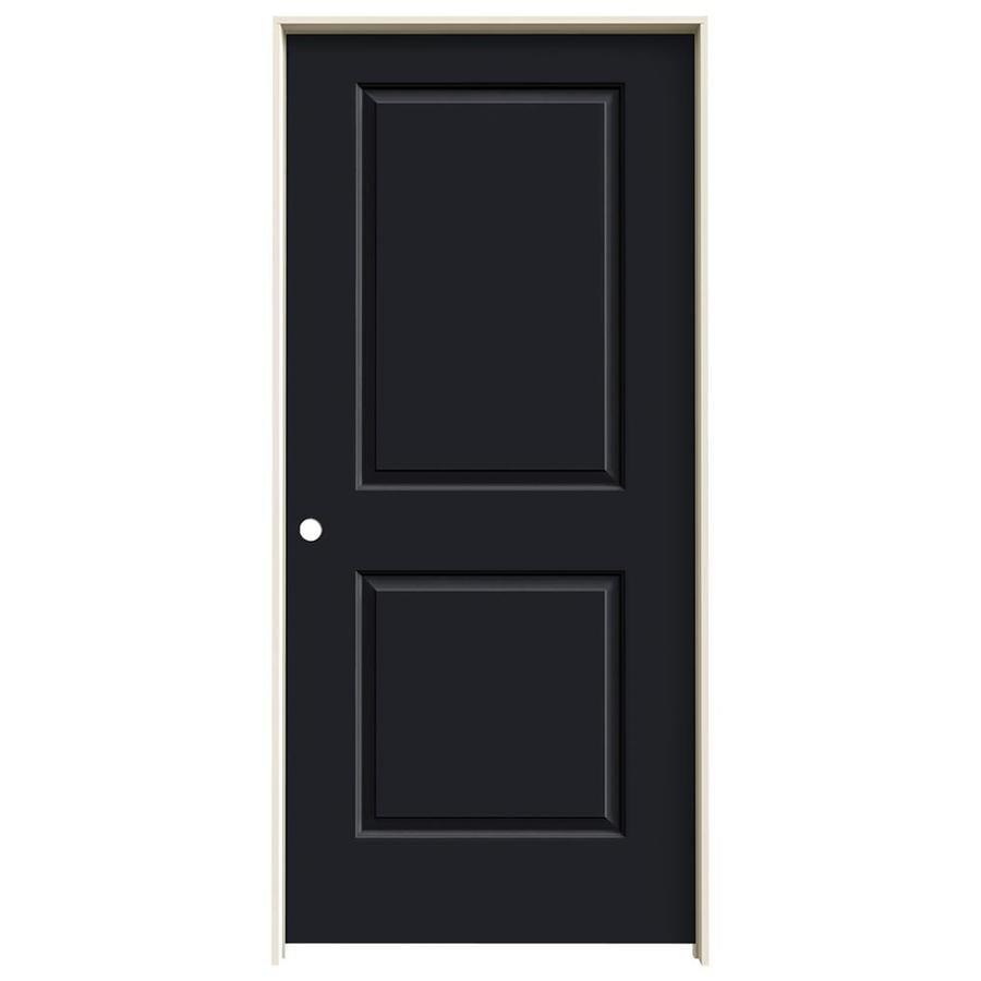 JELD-WEN Cambridge Midnight Prehung Hollow Core 2-Panel Square Interior Door (Common: 36-in x 80-in; Actual: 37.562-in x 81.688-in)