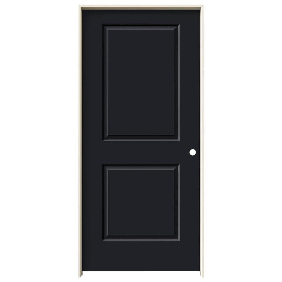 JELD-WEN Cambridge Midnight 2-panel Square Single Prehung Interior Door (Common: 36-in x 80-in; Actual: 37.562-in x 81.688-in)