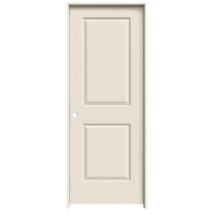 ReliaBilt Prehung Hollow Core 2-Panel Square Interior Door (Common: 32-in x 80-in; Actual: 33.562-in x 81.688-in)