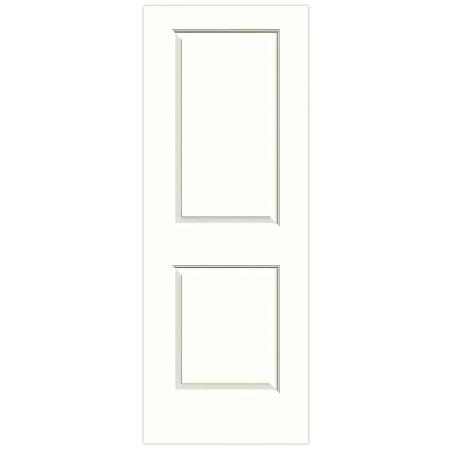JELD-WEN Snow Storm Hollow Core 2-Panel Square Slab Interior Door (Common: 30-in x 80-in; Actual: 30-in x 80-in)
