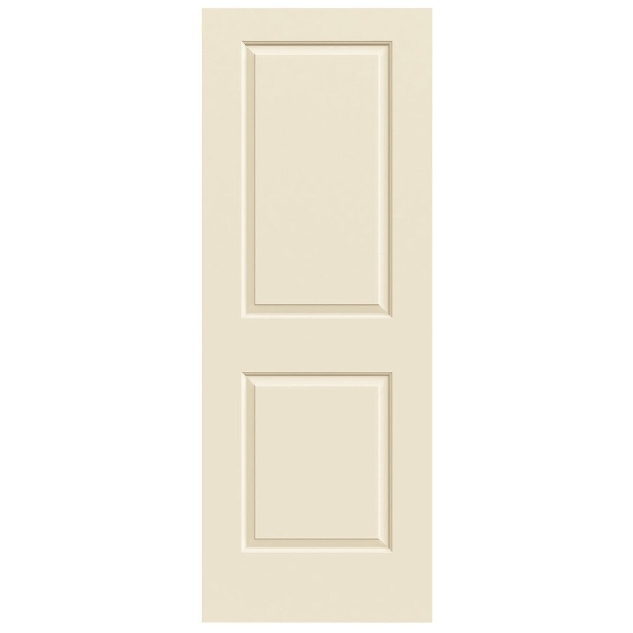 JELD-WEN Cream-n-sugar 2-panel Square Slab Interior Door (Common: 32-in x 80-in; Actual: 32-in x 80-in)