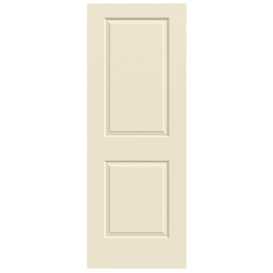 JELD-WEN Cream-N-Sugar Hollow Core 2-Panel Square Slab Interior Door (Common: 32-in x 80-in; Actual: 32-in x 80-in)