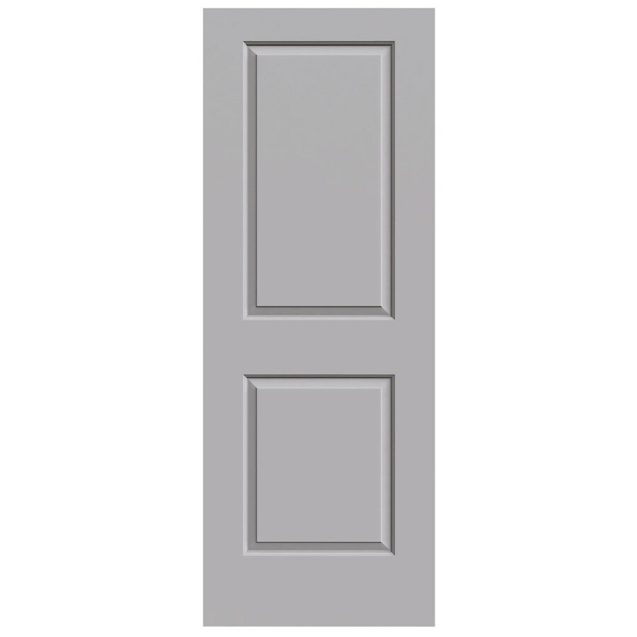 JELD-WEN Driftwood Hollow Core 2-Panel Square Slab Interior Door (Common: 32-in x 80-in; Actual: 32-in x 80-in)