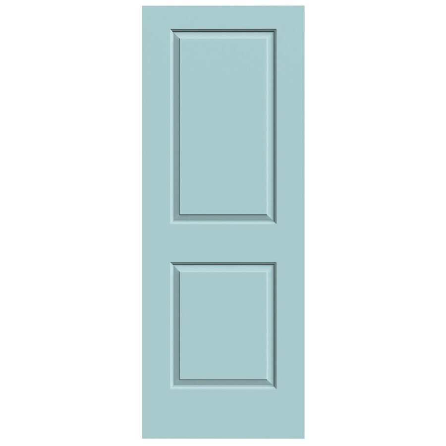 JELD-WEN Sea Mist Hollow Core 2-Panel Square Slab Interior Door (Common: 24-in x 80-in; Actual: 24-in x 80-in)