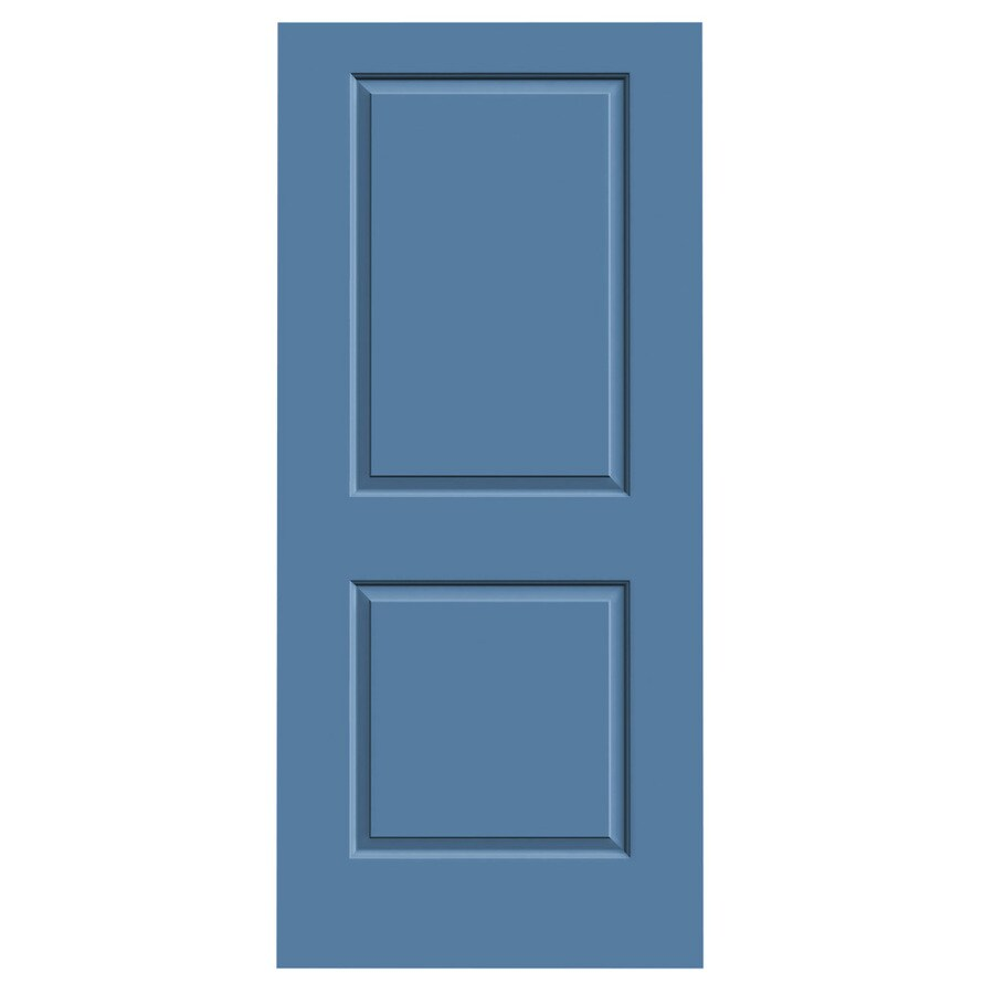 JELD-WEN Cambridge Blue Heron Slab Interior Door (Common: 36-in x 80-in; Actual: 36-in x 80-in)