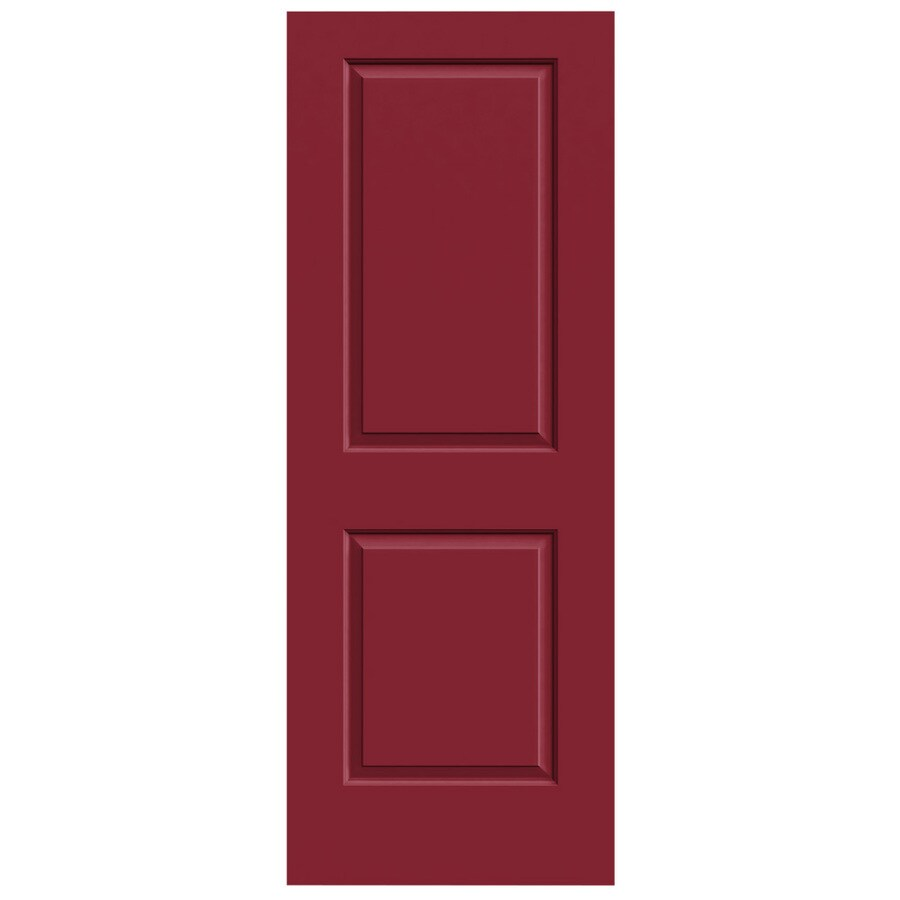 JELD-WEN Barn Red Hollow Core 2-Panel Square Slab Interior Door (Common: 32-in x 80-in; Actual: 32-in x 80-in)