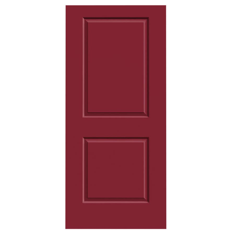 JELD-WEN Barn Red Hollow Core 2-Panel Square Slab Interior Door (Common: 36-in x 80-in; Actual: 36-in x 80-in)