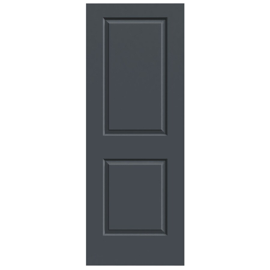 JELD-WEN Slate Hollow Core 2-Panel Square Slab Interior Door (Common: 24-in x 80-in; Actual: 24-in x 80-in)