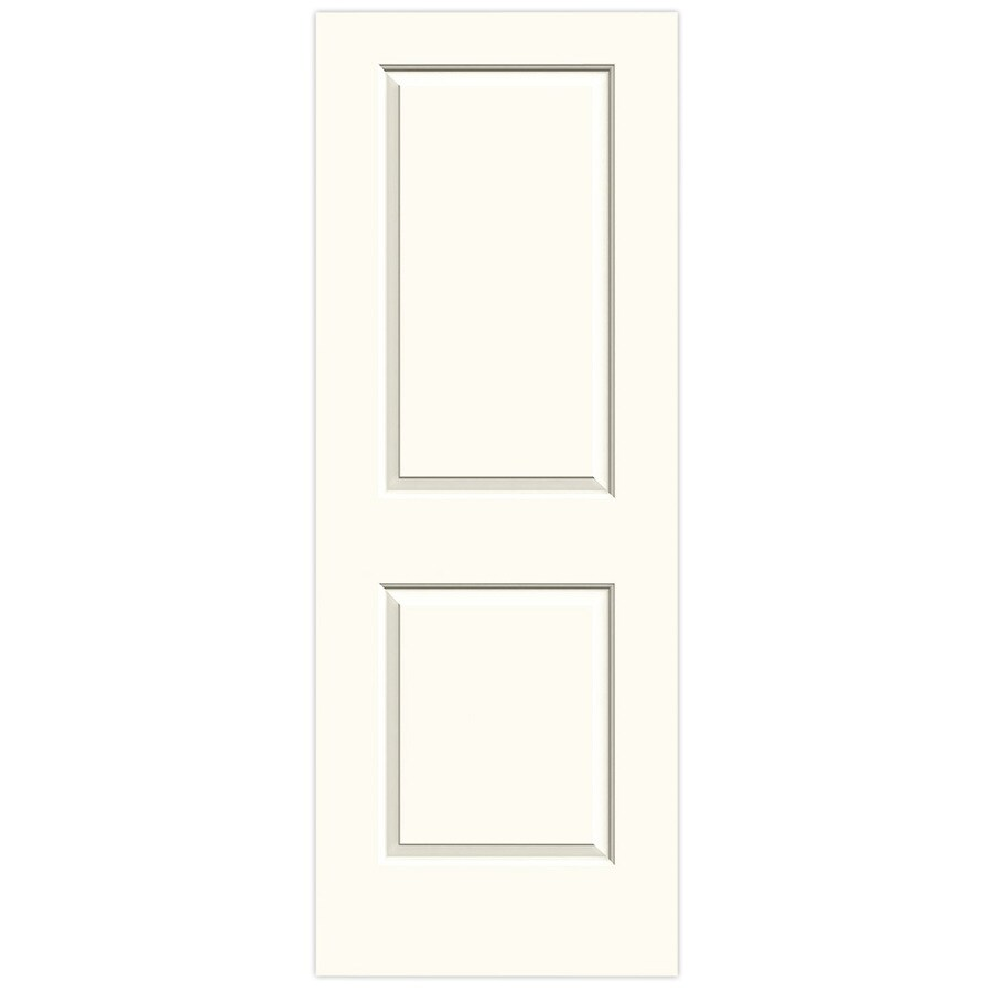 JELD-WEN White Solid Core 2-Panel Square Slab Interior Door (Common: 32-in x 80-in; Actual: 32-in x 80-in)