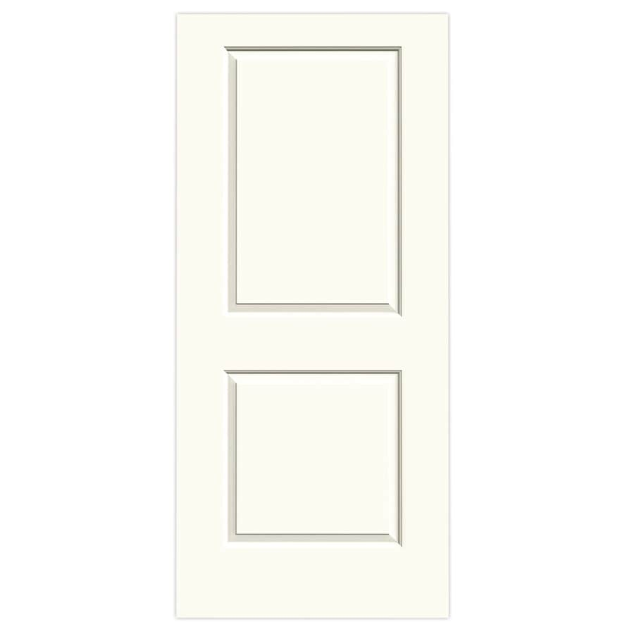 JELD-WEN White Solid Core 2-Panel Square Slab Interior Door (Common: 36-in x 80-in; Actual: 36-in x 80-in)