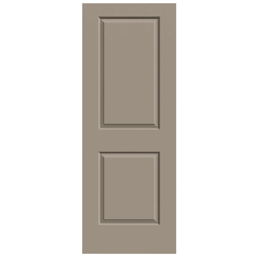 JELD-WEN Cambridge Sand Piper Solid Core Molded Composite Slab Interior Door (Common: 28-in x 80-in; Actual: 28-in x 80-in)