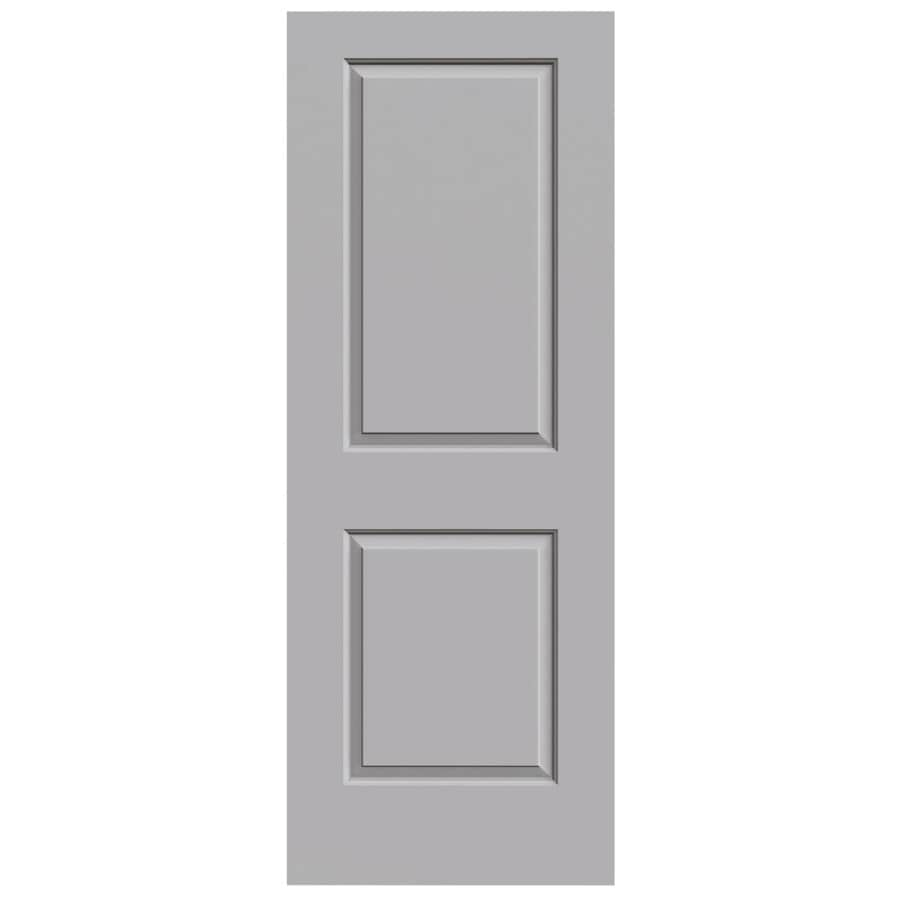 JELD-WEN Driftwood Solid Core 2-Panel Square Slab Interior Door (Common: 28-in x 80-in; Actual: 28-in x 80-in)