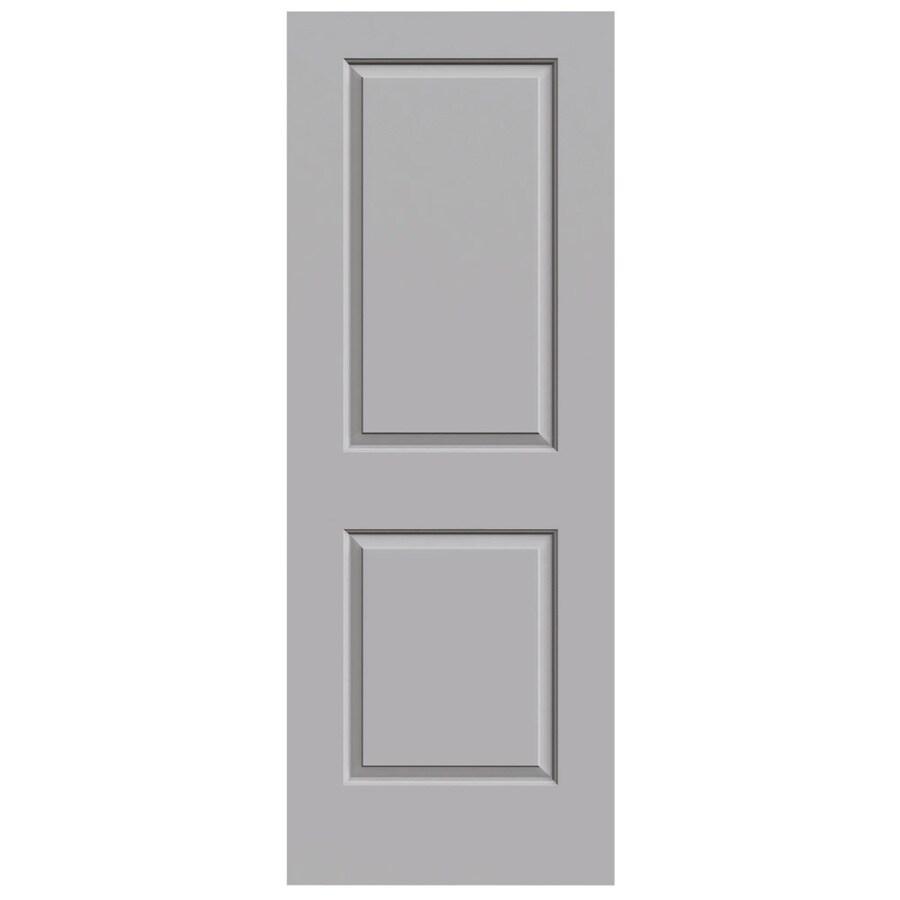 JELD-WEN Driftwood Solid Core 2-Panel Square Slab Interior Door (Common: 32-in x 80-in; Actual: 32-in x 80-in)