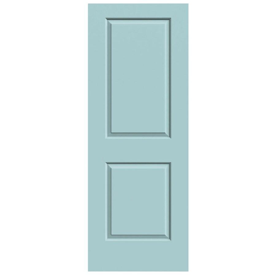 JELD-WEN Sea Mist Solid Core 2-Panel Square Slab Interior Door (Common: 24-in x 80-in; Actual: 24-in x 80-in)
