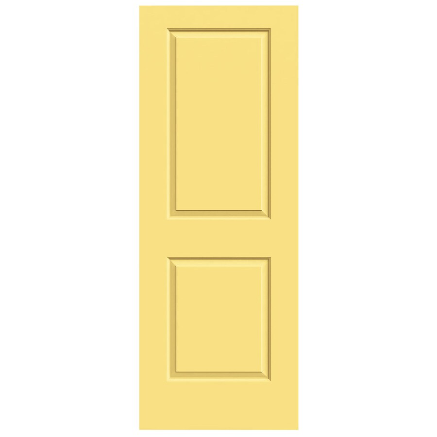 JELD-WEN Marigold Solid Core 2-Panel Square Slab Interior Door (Common: 24-in x 80-in; Actual: 24-in x 80-in)