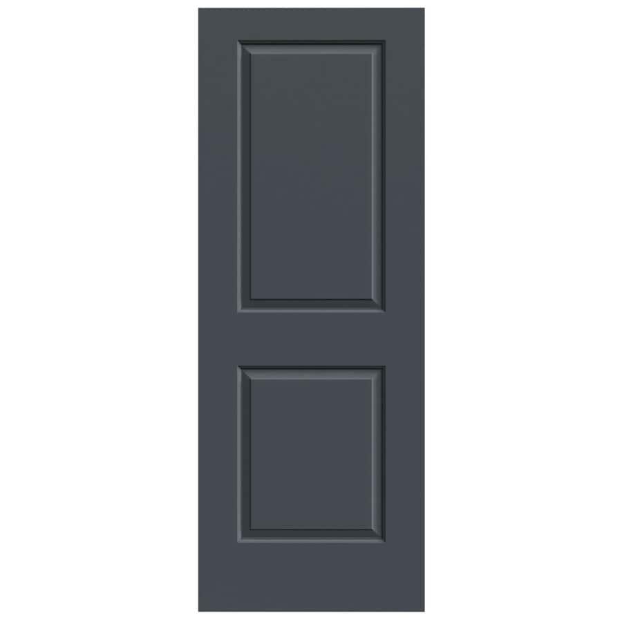 JELD-WEN Slate 2-panel Square Slab Interior Door (Common: 24-in x 80-in; Actual: 24-in x 80-in)