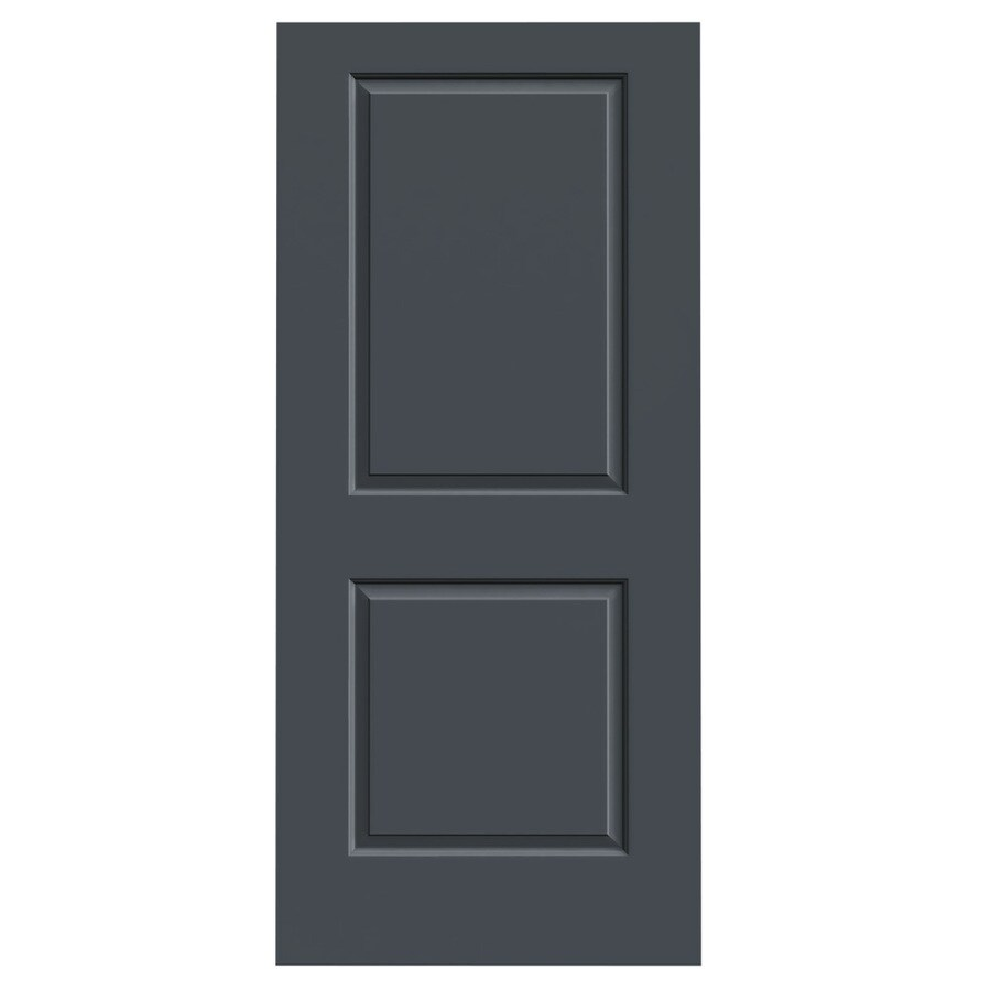 JELD-WEN Slate 2-panel Square Slab Interior Door (Common: 36-in x 80-in; Actual: 36-in x 80-in)