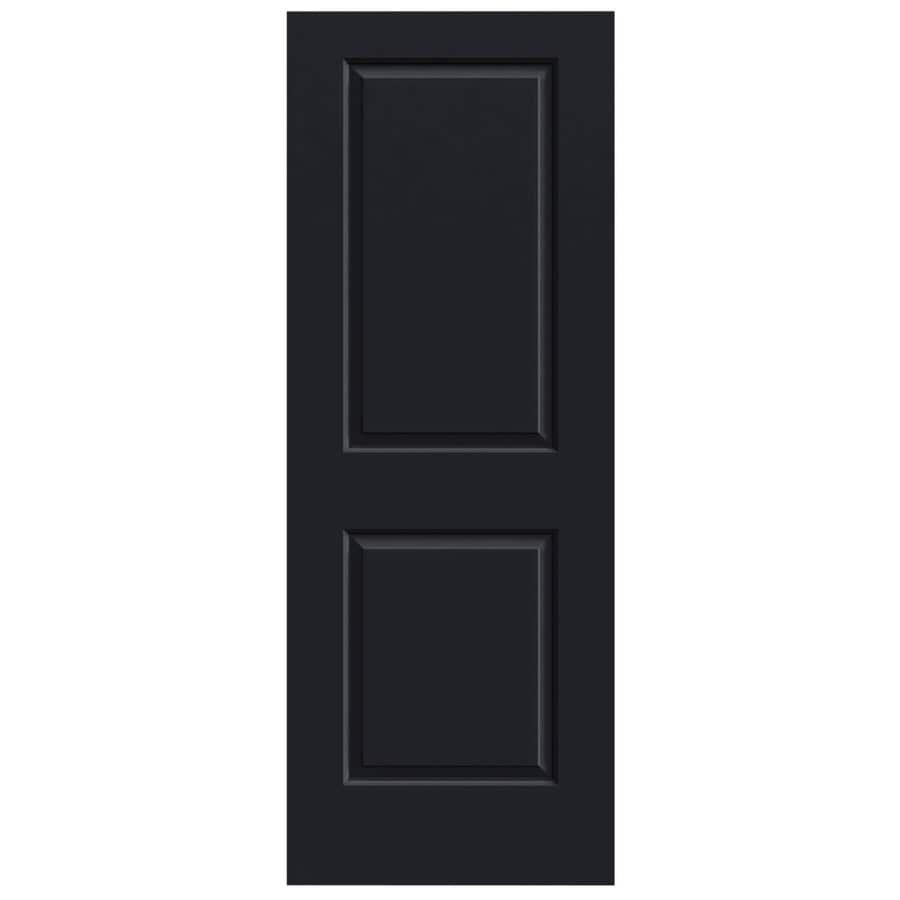 JELD-WEN Midnight Solid Core 2-Panel Square Slab Interior Door (Common: 32-in x 80-in; Actual: 32-in x 80-in)