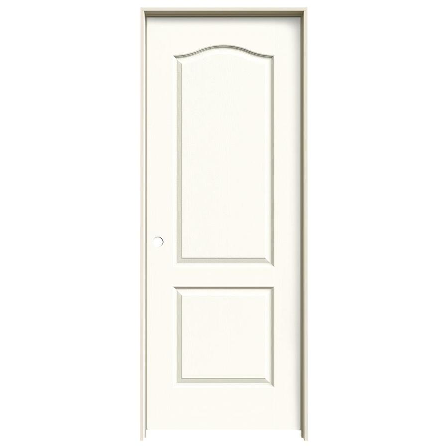JELD-WEN White Prehung Hollow Core 2-Panel Arch Top Interior Door (Common: 30-in x 80-in; Actual: 31.562-in x 81.688-in)