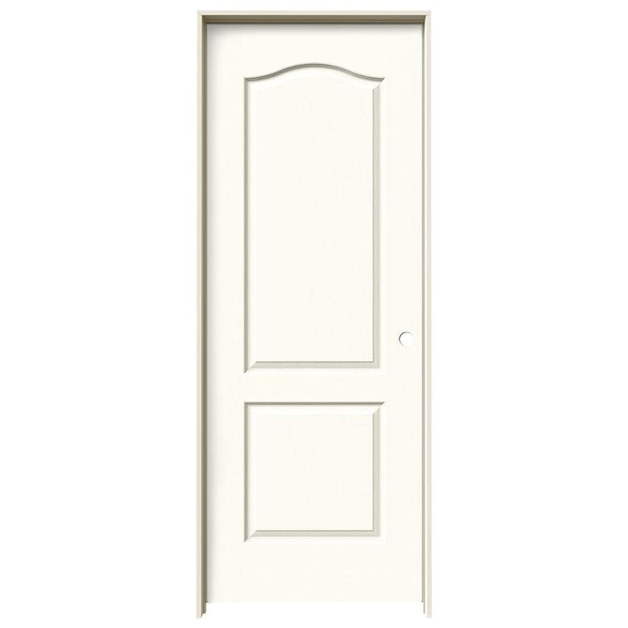 JELD-WEN Camden White Hollow Core Molded Composite Single Prehung Interior Door (Common: 32-in x 80-in; Actual: 33.562-in x 81.688-in)