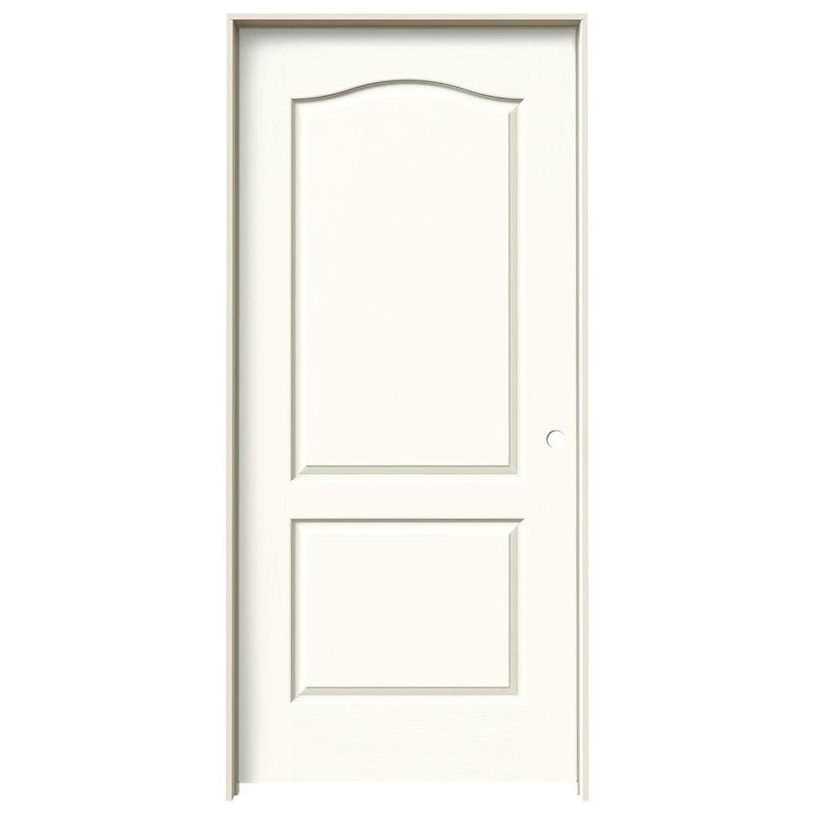 Shop jeld wen white 2 panel arch top single prehung for 1 panel interior door