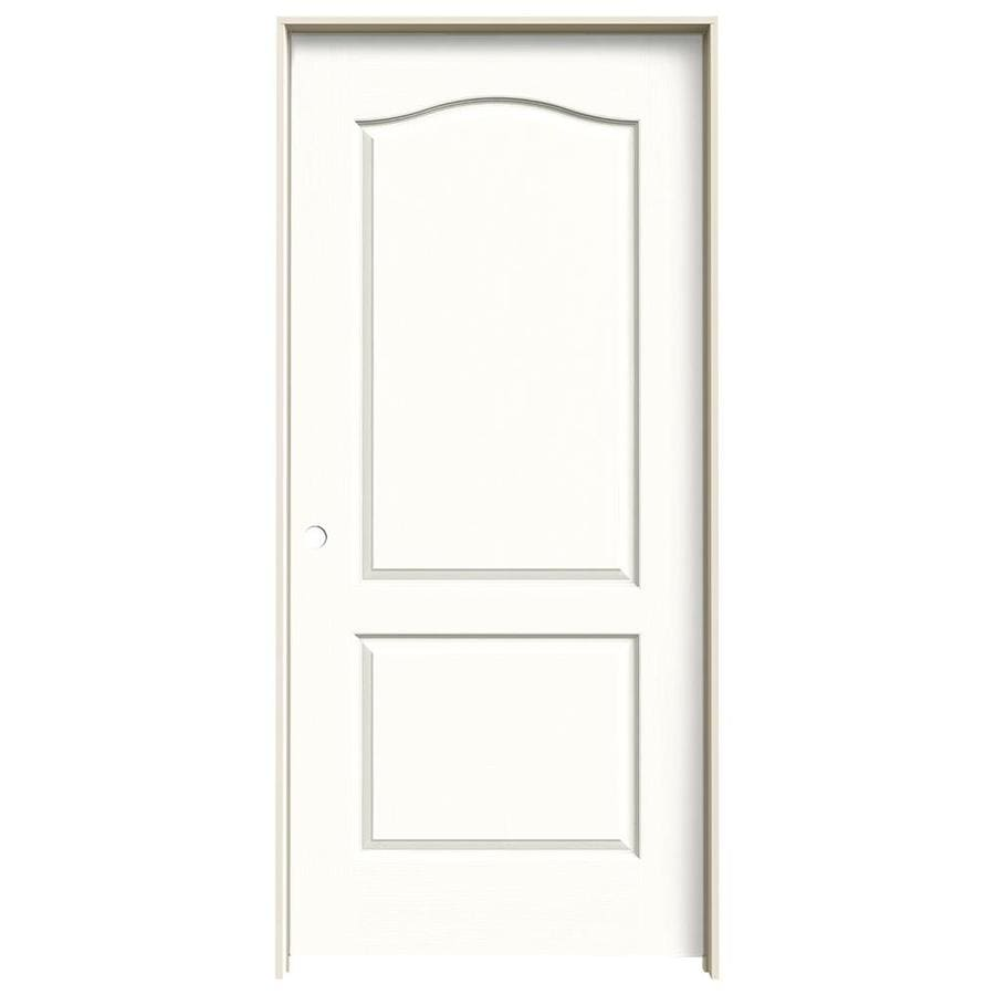 JELD-WEN Snow Storm 2-panel Arch Top Single Prehung Interior Door (Common: 36-in x 80-in; Actual: 37.562-in x 81.688-in)