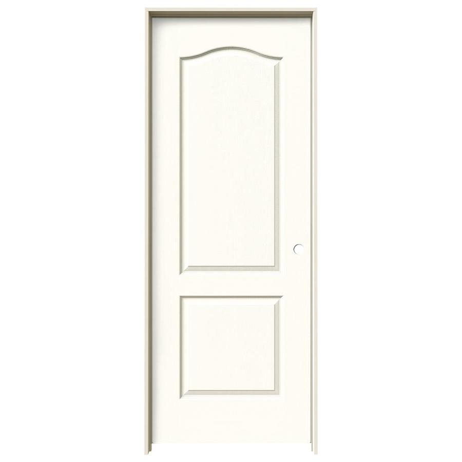 JELD-WEN Camden Moonglow Single Prehung Interior Door (Common: 32-in x 80-in; Actual: 33.562-in x 81.688-in)