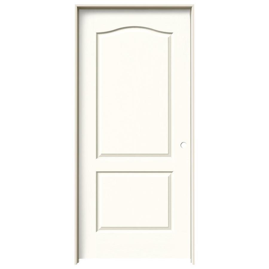 JELD-WEN Moonglow Prehung Hollow Core 2-Panel Arch Top Interior Door (Common: 36-in x 80-in; Actual: 37.562-in x 81.688-in)
