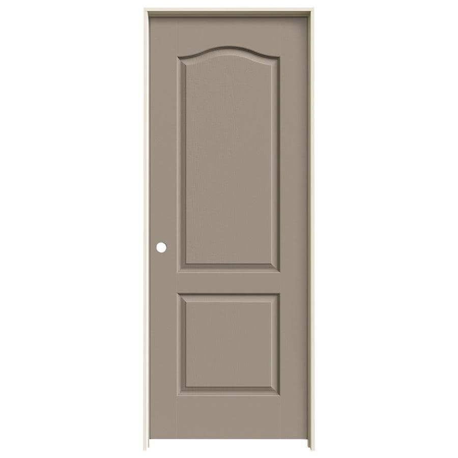 JELD-WEN Camden Sand Piper Hollow Core Molded Composite Single Prehung Interior Door (Common: 24-in x 80-in; Actual: 25.562-in x 81.688-in)
