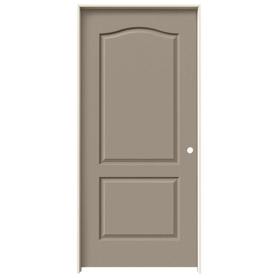 JELD-WEN Camden Sand Piper Hollow Core Molded Composite Single Prehung Interior Door (Common: 36-in x 80-in; Actual: 37.5620-in x 81.6880-in)