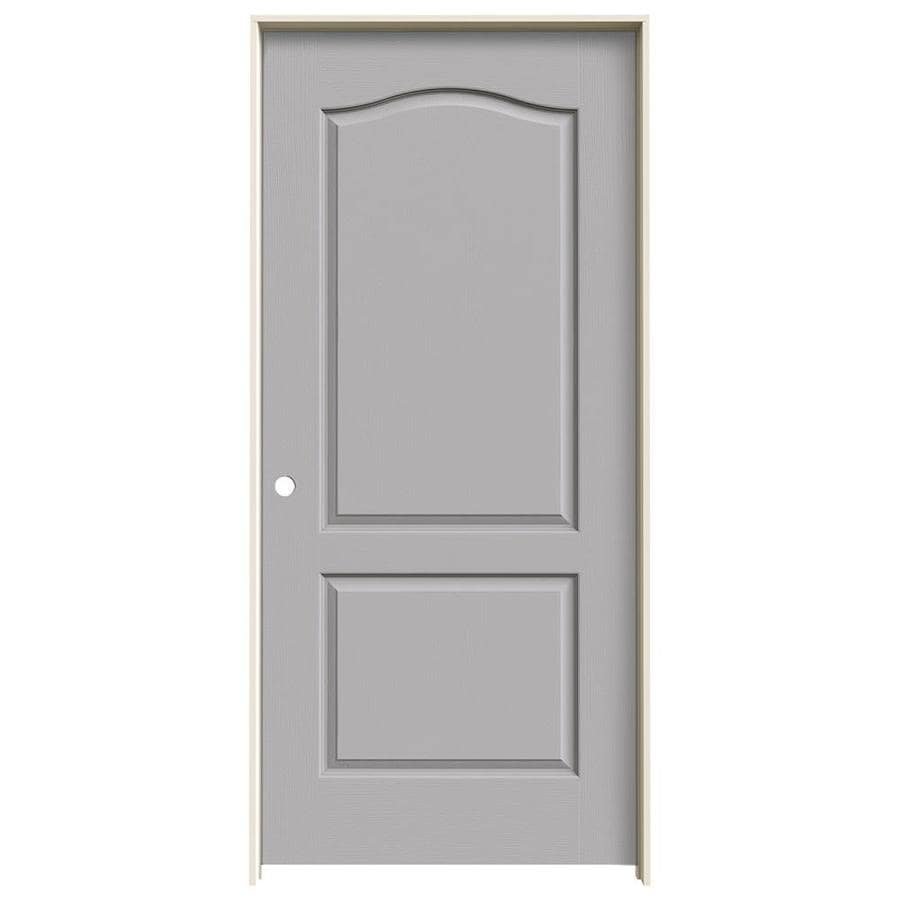 JELD-WEN Driftwood Prehung Hollow Core 2-Panel Arch Top Interior Door (Common: 36-in x 80-in; Actual: 37.562-in x 81.688-in)