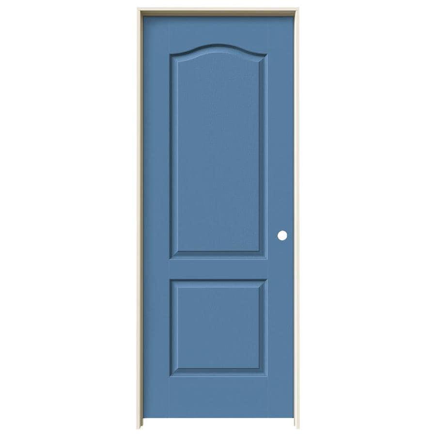 JELD-WEN Blue Heron Prehung Hollow Core 2-Panel Arch Top Interior Door (Common: 30-in x 80-in; Actual: 31.562-in x 81.688-in)