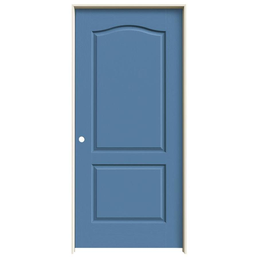 JELD-WEN Camden Blue Heron Single Prehung Interior Door (Common: 36-in x 80-in; Actual: 37.562-in x 81.688-in)