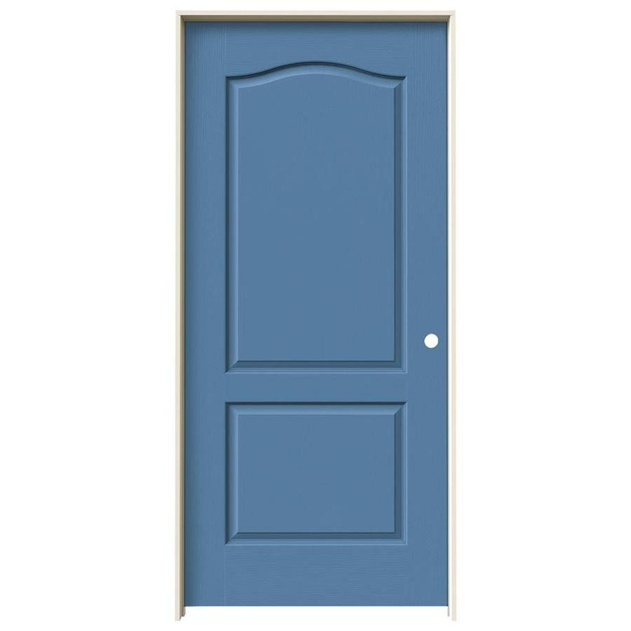 JELD-WEN Blue Heron Hollow Core Molded Composite Single Prehung Interior Door (Common: 36-in x 80-in; Actual: 37.562-in x 81.688-in)