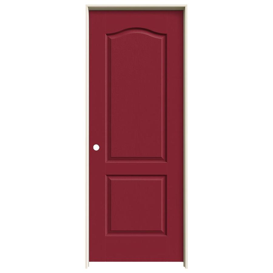 JELD-WEN Barn Red 2-panel Arch Top Single Prehung Interior Door (Common: 30-in x 80-in; Actual: 31.562-in x 81.688-in)