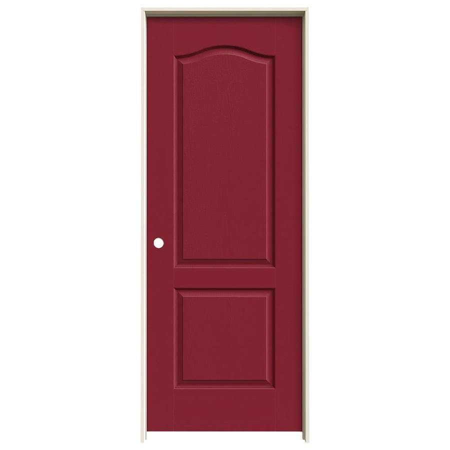 JELD-WEN Camden Barn Red Hollow Core Molded Composite Single Prehung Interior Door (Common: 32-in x 80-in; Actual: 33.562-in x 81.688-in)