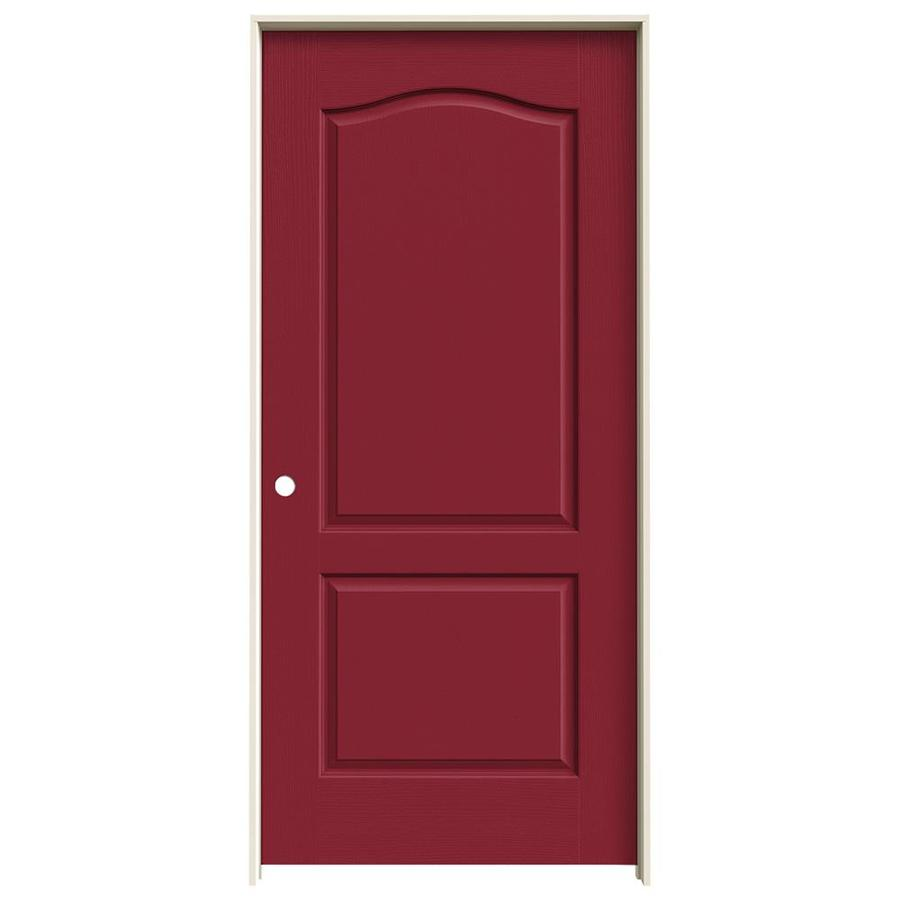 JELD-WEN Camden Barn Red Hollow Core Molded Composite Single Prehung Interior Door (Common: 36-in x 80-in; Actual: 37.562-in x 81.688-in)