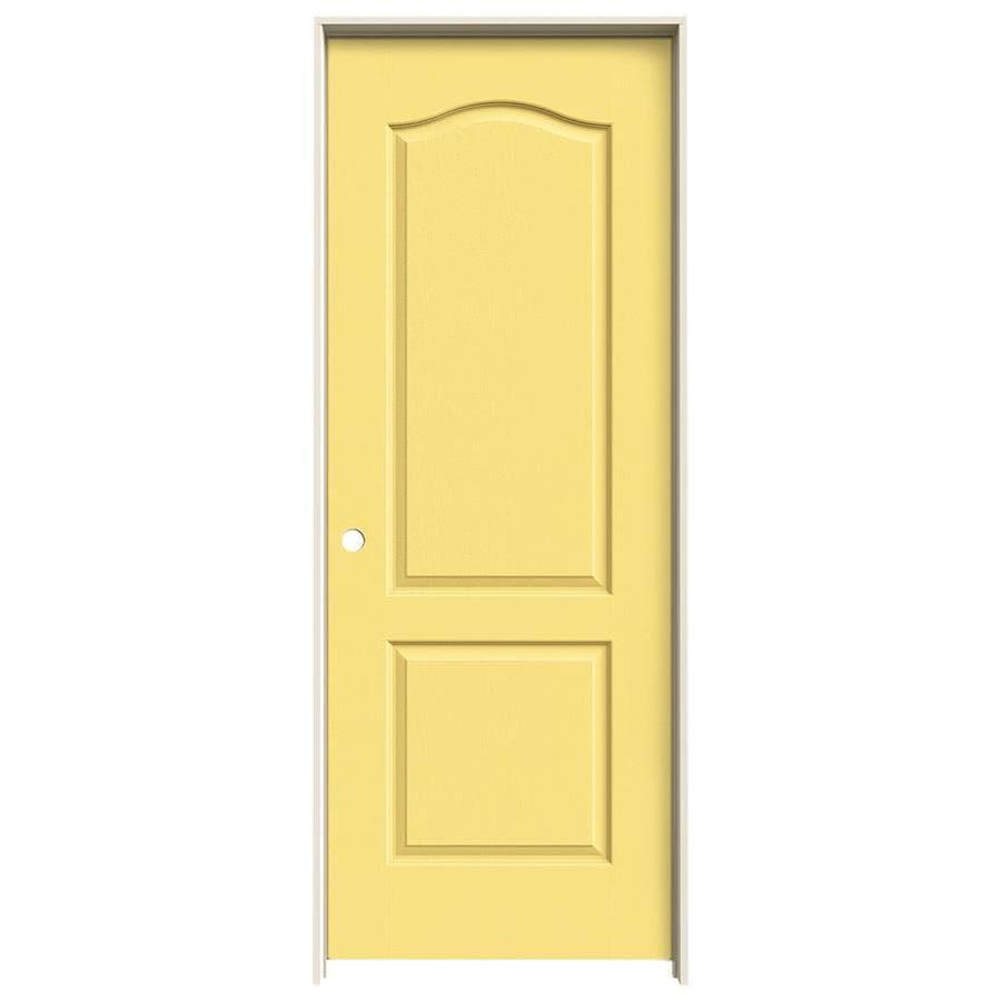 JELD-WEN Camden Marigold Single Prehung Interior Door (Common: 28-in x 80-in; Actual: 29.562-in x 81.688-in)