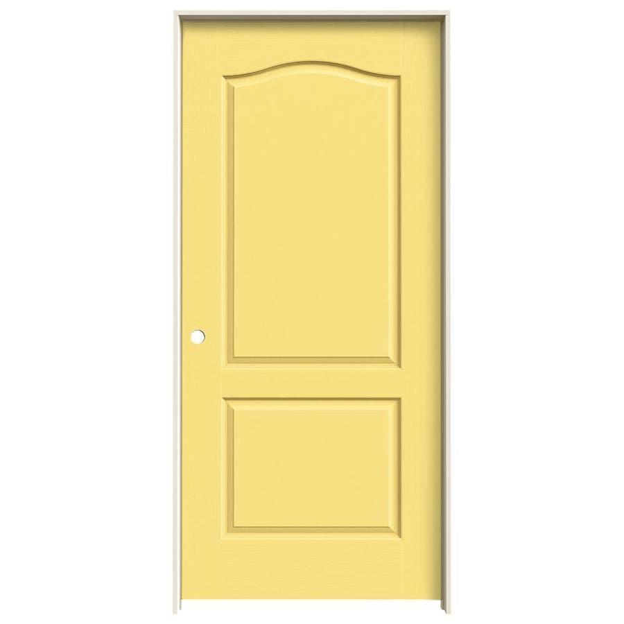 JELD-WEN Camden Marigold Hollow Core Molded Composite Single Prehung Interior Door (Common: 36-in x 80-in; Actual: 37.5620-in x 81.6880-in)