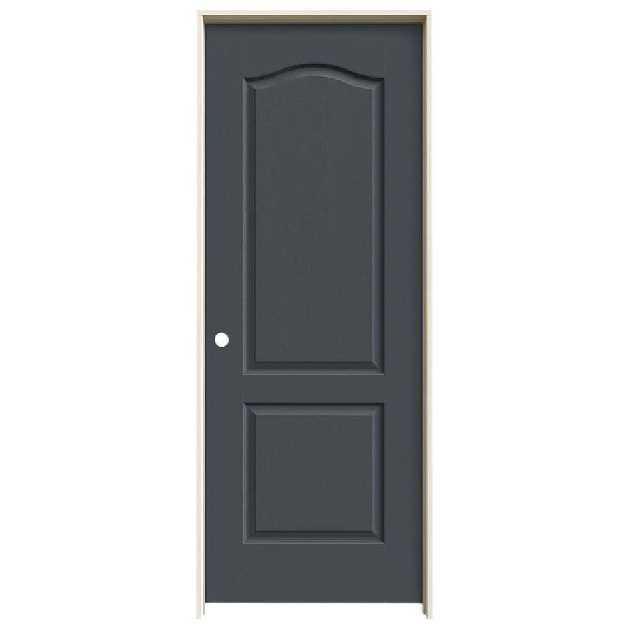 JELD-WEN Camden Slate Hollow Core Molded Composite Single Prehung Interior Door (Common: 28-in x 80-in; Actual: 29.562-in x 81.688-in)