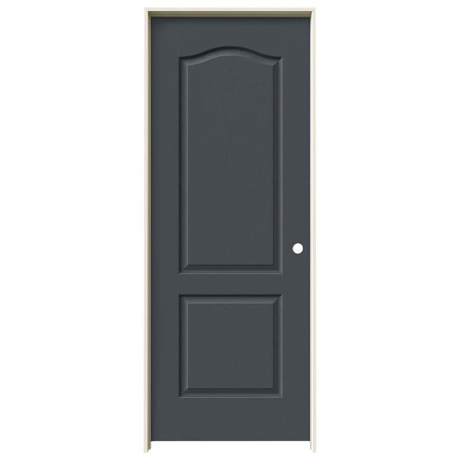 JELD-WEN Slate Prehung Hollow Core 2-Panel Arch Top Interior Door (Common: 28-in x 80-in; Actual: 29.562-in x 81.688-in)