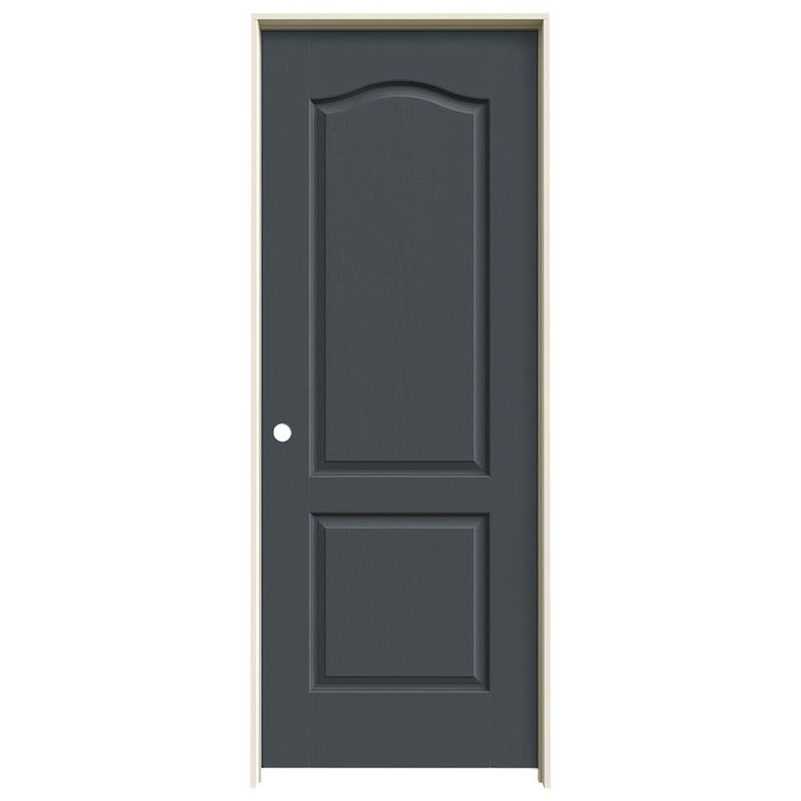 JELD-WEN Camden Slate Single Prehung Interior Door (Common: 30-in x 80-in; Actual: 31.562-in x 81.688-in)