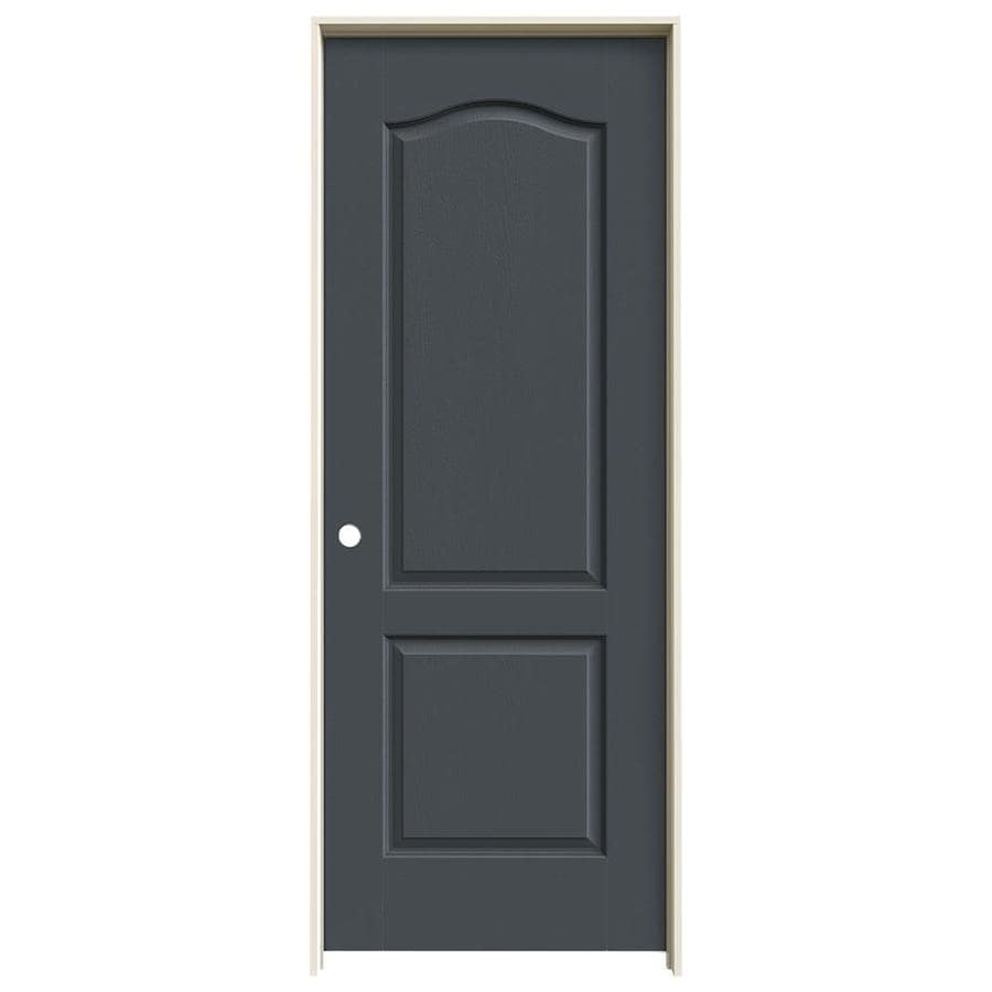 JELD-WEN Slate Prehung Hollow Core 2-Panel Arch Top Interior Door (Common: 32-in x 80-in; Actual: 33.562-in x 81.688-in)